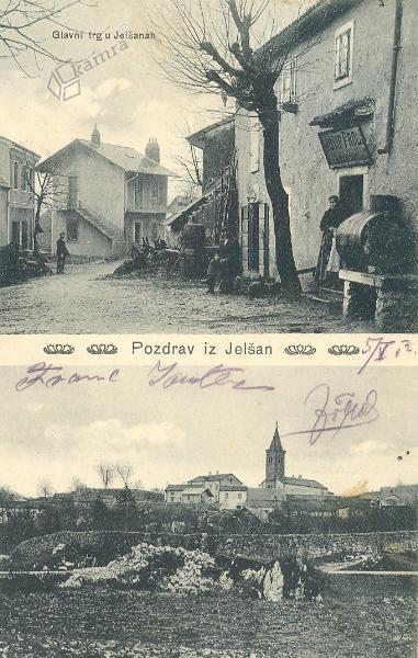 Pozdrav iz Jelšan, okrog 1910 leta