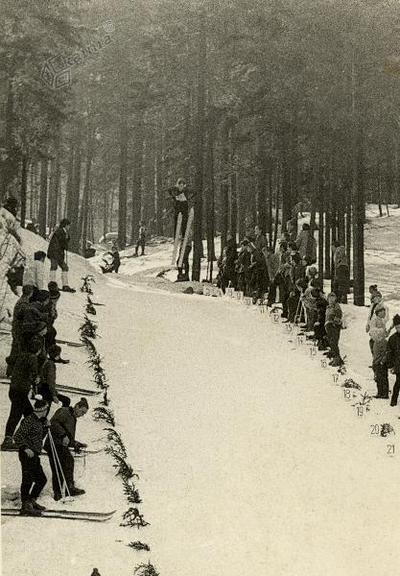 Smučarska skakalnica pri Kureju okrog 1950