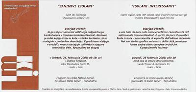 Zanimivi Izolani - Marjan Motoh, vabilo