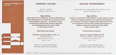Zanimivi Izolani - Žiga Dolher, vabilo