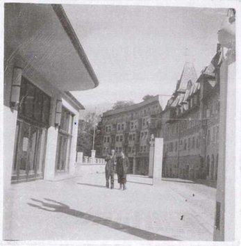 Grum in njegov šofer Kušar na Bledu