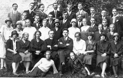 Šmarski cerkveni zbor pod vodstvom Jožeta Cajhna leta 1926