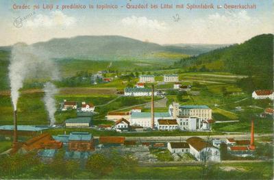 Gradec pri Litiji s predilnico in topilnico leta 1931