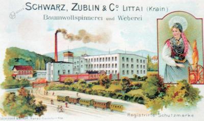Predilnica in tkalnica v Litiji leta 1899