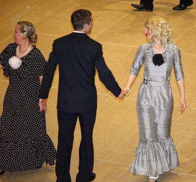 Plesni par na plesišču
