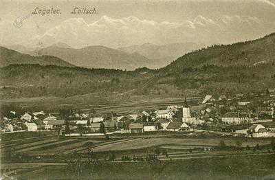 Cenzurirana razglednica Logatca v češčini