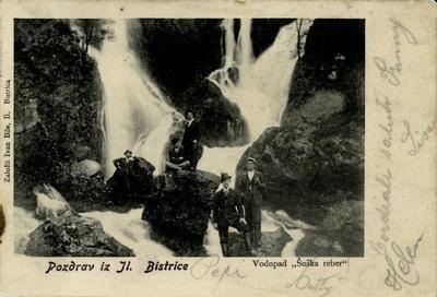 Slapovi Sušca, okrog 1900 leta