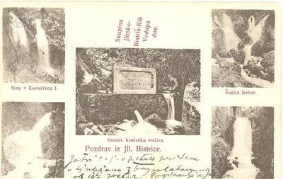 Bistriški izviri na razglednici iz leta 1909