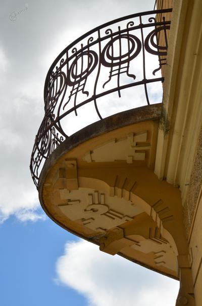 Balkon na Pevčevi hiši v Mozirju