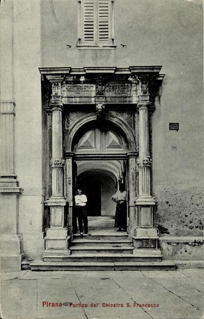 Pirano-portico del' chiostro S. Francesco