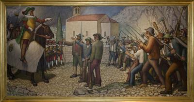 Srečanje grofa Coroninija s tolminskimi uporniki