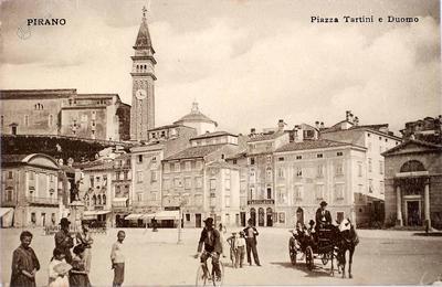 Pirano, Piazza Tartini e duomo