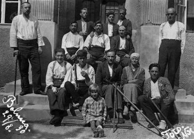 Martin Noč pred obratno bolnico 1930