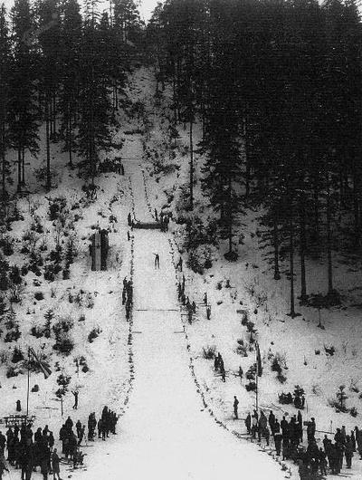 Skakalna tekma na Kresu okoli leta 1950