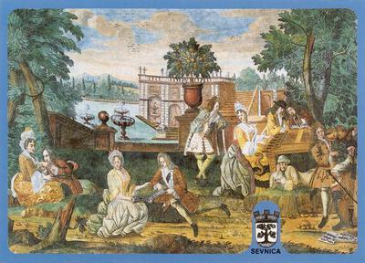 Sevnica - freska iz 18. stoletja