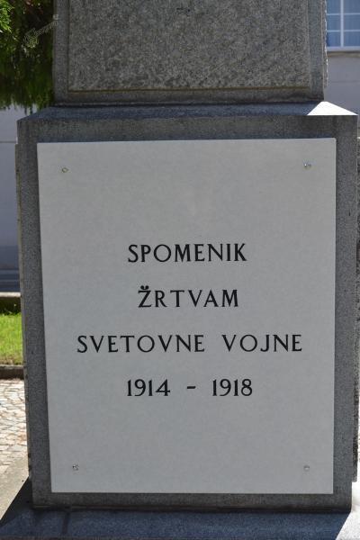Spomenik prve svetovne vojne v Ormožu - plošča 1