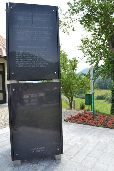Spominsko obeležje v Žetalah - žrtve 2. sv. vojne