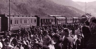 Odhod prisilno mobiliziranih mož v nemško vojsko