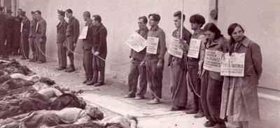 Zasramovanje ujetih in mrtvih partizanov