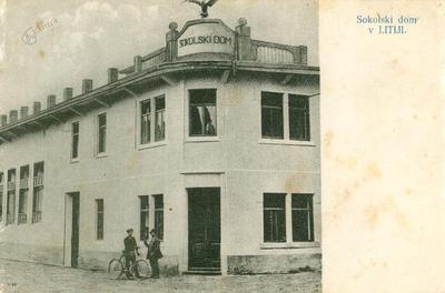 Litijski sokolski dom leta 1915