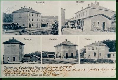 Železniške postaje na progi Grobelno - Rogatec
