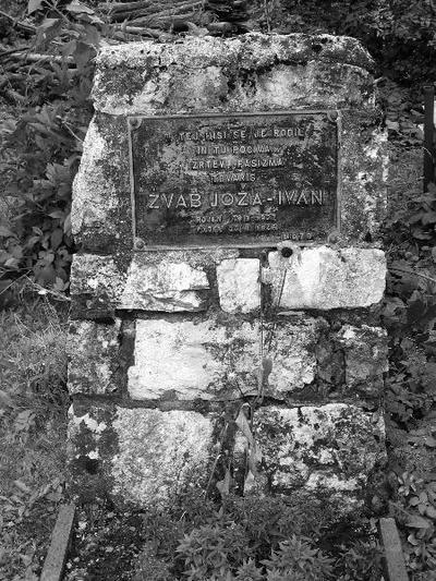 Spominsko obeležje padlemu Jožu Žvabu - Ivanu