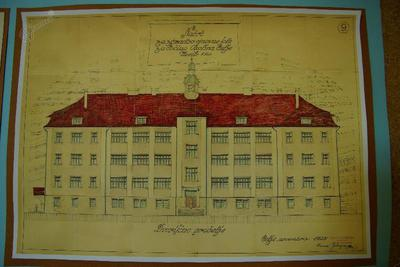 I. osnovna šola Celje, načrt šole 1925