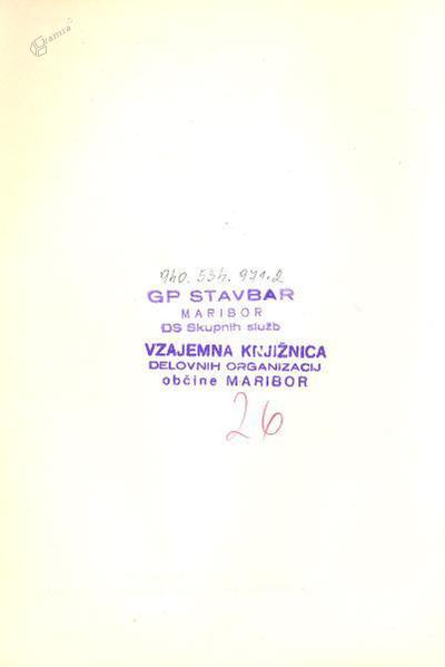 Primer žiga - Stavbar
