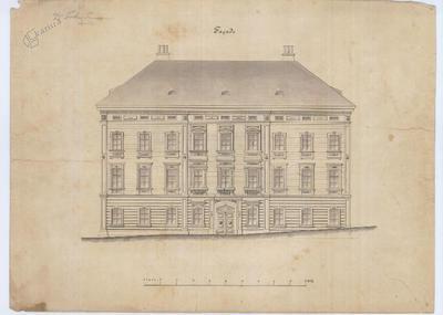 Načrt fasade narodnega doma