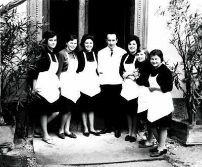 Borl- osebje hotela ok. 1960