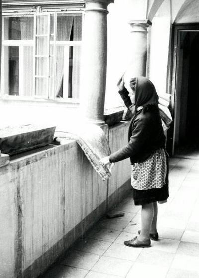 Letovišče Borl - sobarica ok. 1960