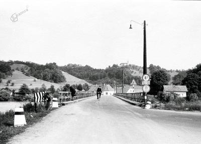 Most čez Dravo pri Borlu v 60-ih letih 20. stol.