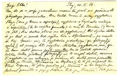 Pismo Viktorju Smoleju, 1954