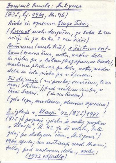 Arharjeve notice o knjigi Dominika Smoleta