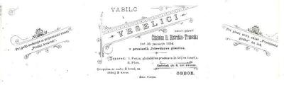 Vabilo bistriške čitalnice na veselico 1894
