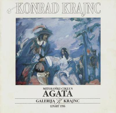 Agata in Friderik, olje na platnu - 1995, 70 x 58 cm