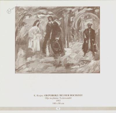 Ob poroki, olje na platnu - 1993, 100 x 80 cm