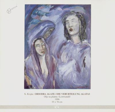Obsodba Agate, olje na platnu - 1996, 55 x 70 cm