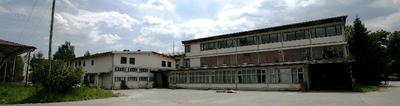 Stavba tovarne Vezenine Bled po zaprtju