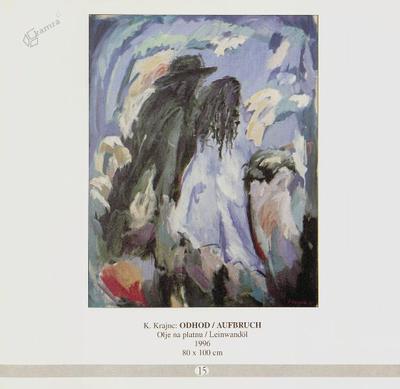 Odhod, olje na platnu - 1996, 80 x 100 cm