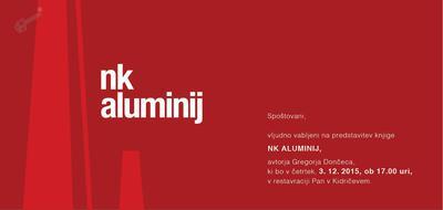 Predstavitev knjige NK Aluminij - vabilo