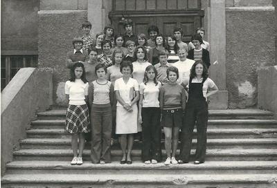 I. osnovna šola Celje, skupinska fotografija, 8. c 1973