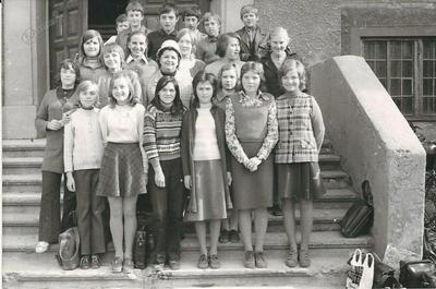 I. osnovna šola Celje, skupinska fotografija 6. c 1971