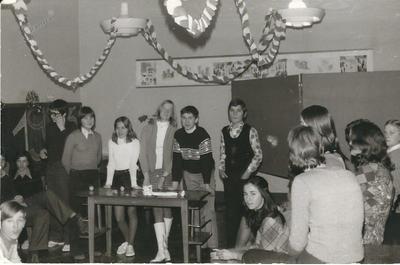 I. osnovna šola Celje, novoletna zabava 8. razred 1973