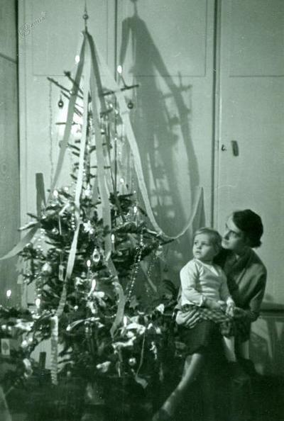 Jolka in Jeanne, božič 1955