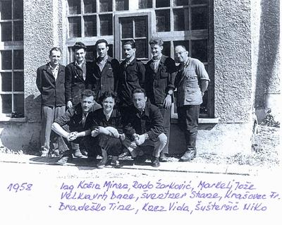 Sodelavci iz IUV-ja, 1958