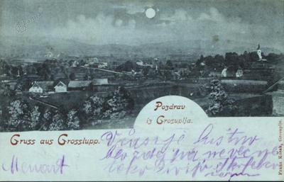 Velika cesta okoli leta 1901