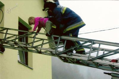 Gasilska vaja: evakuacija iz šole