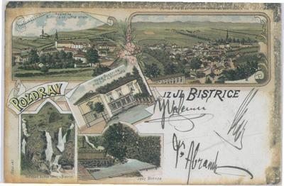 Pozdrav iz Il. Bistrice, okrog 1898