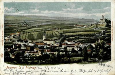 Pozdrav iz Il. Bistrice, okrog 1902